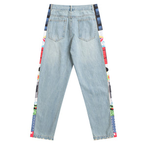 """GRAPHICS-SIDE"" JEANS"
