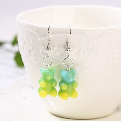 """GRADIENT GUMMY BEAR"" EARRINGS"