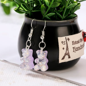 """GLITTERY GUMMY BEAR"" EARRINGS"