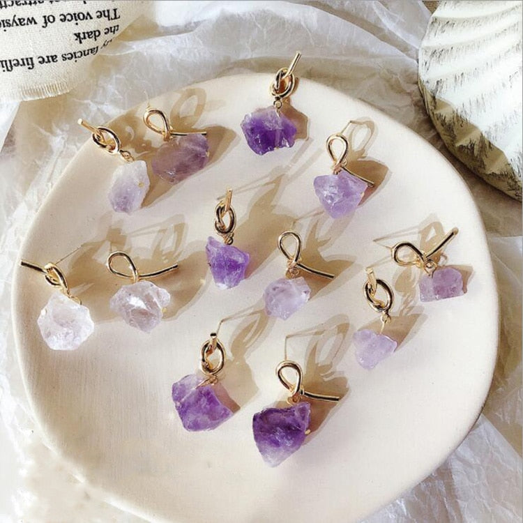 """NATURAL STONE"" EARRINGS"