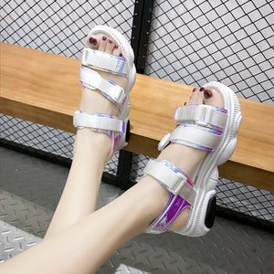 """HOLOGRAPHIC"" SANDALS"