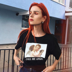 """CALL ME ANGEL"" CROP TOP"