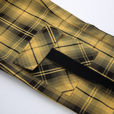 """BUMBLEBEE PLAID"" PANTS"