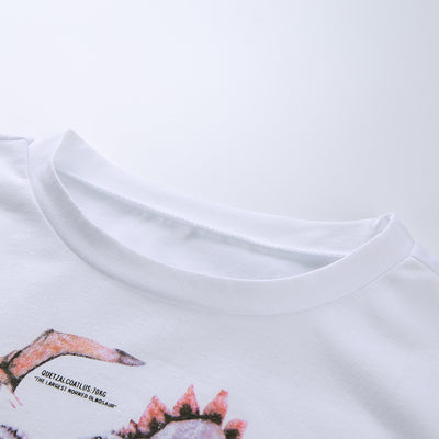 """DINOSAUR"" CROPPED SHIRT"