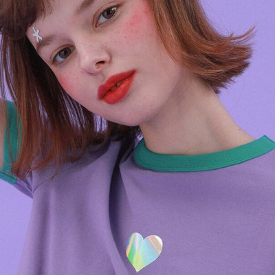 """HOLOGRAPHIC HEART"" SHIRT"