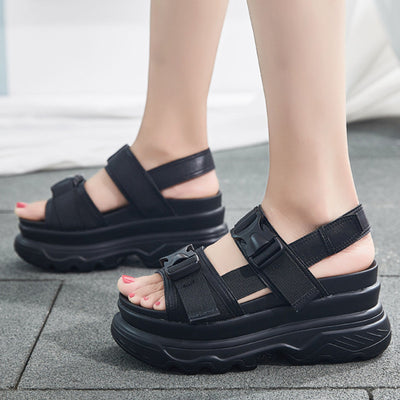 """BUCKLED"" SANDALS"