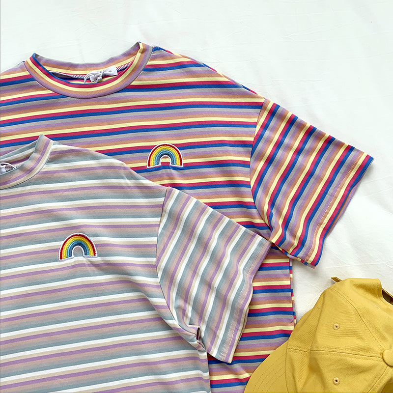 """RAINBOW STRIPED"" SHIRTS"