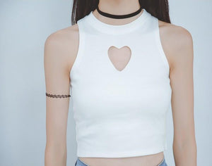 """HEART CUT-OUT"" TANK TOP"