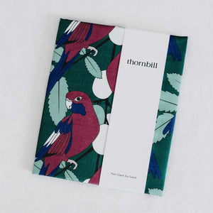 tea towel australian rosella design
