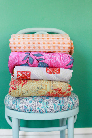 DIY Project with Hand & Cloth Kantha Yardage