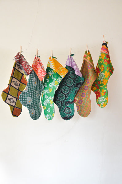 The Green Collection - Kantha Stocking