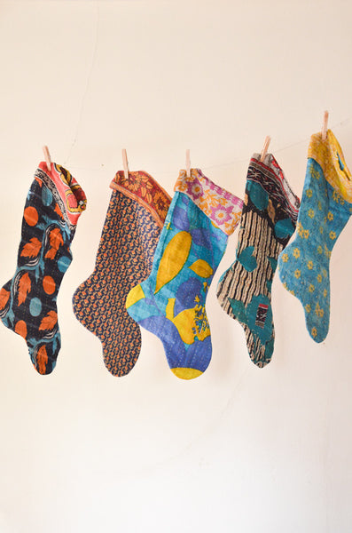 The Blue Collection - Kantha Stocking