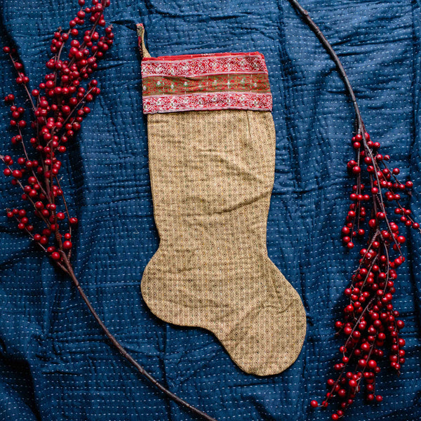 There is a Season | Kantha Stocking No. 11