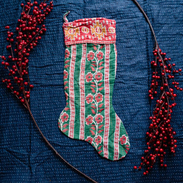 There is a Season | Kantha Stocking No. 38