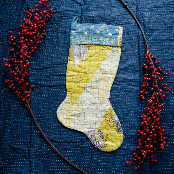 There is a Season | Kantha Stocking No. 40