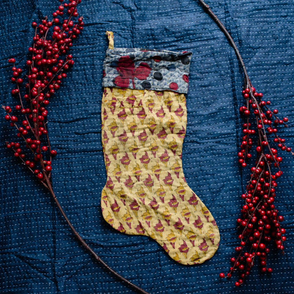 There is a Season | Kantha Stocking No. 41