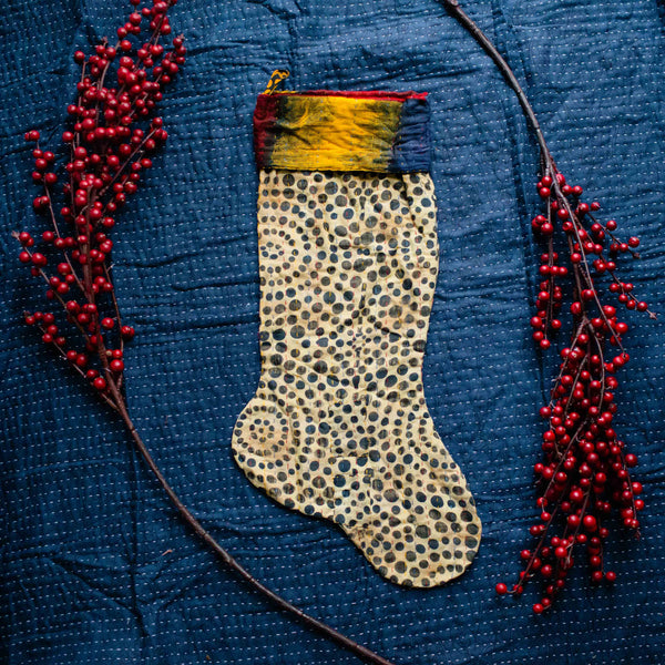 There is a Season | Kantha Stocking No. 47