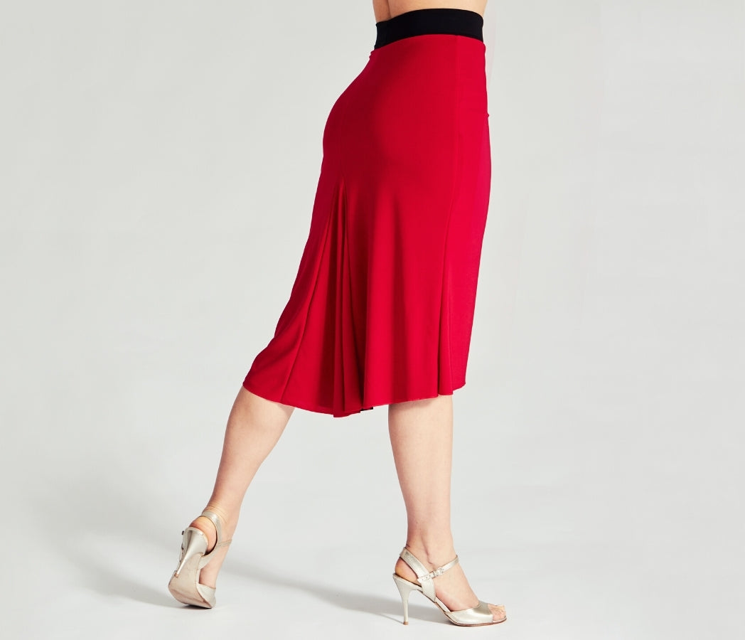 reversible tango skirt in red by coleccion berlin