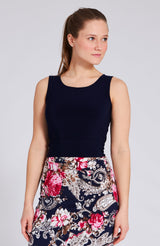 crop top in navy blue with bow
