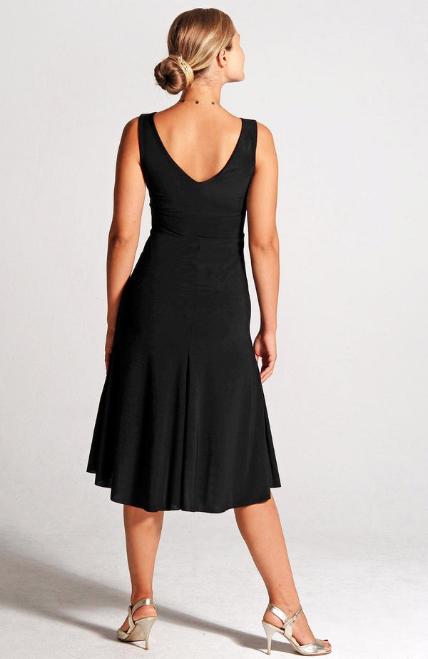 black tango dress with a-line by coleccion berlin