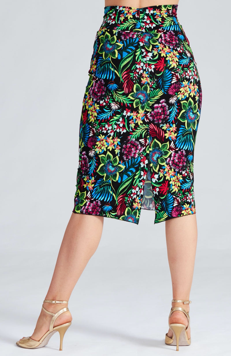 straight tango skirt with exotic print by coleccion berlin