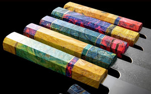 8 Inch Kiritsuke Damascus Steel 67 layer -multicolor
