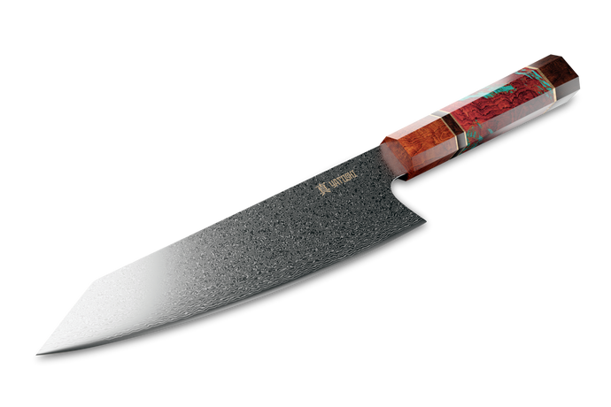 Kiritsuke Damascus Knife Multi-color Handle
