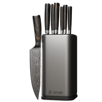 Professional 7 Knife Set and Knife Block