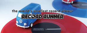 RECORD RUNNER, the world's smallest record player