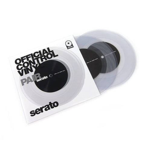 "Serato 7"" Performance Series Control Vinyl, Clear (Pair)"