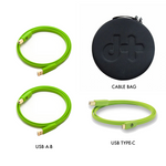 Oyaide NEO d+ Class B DJ Cable Set (1 USB Type-C Cable + 2 USB Class B Cables + Cable Bag)