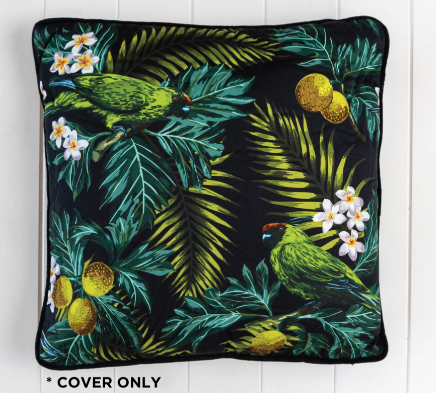 Moody Parrot Tropicana Cushion Cover