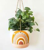 Mustard Hanging Rainbow Planter