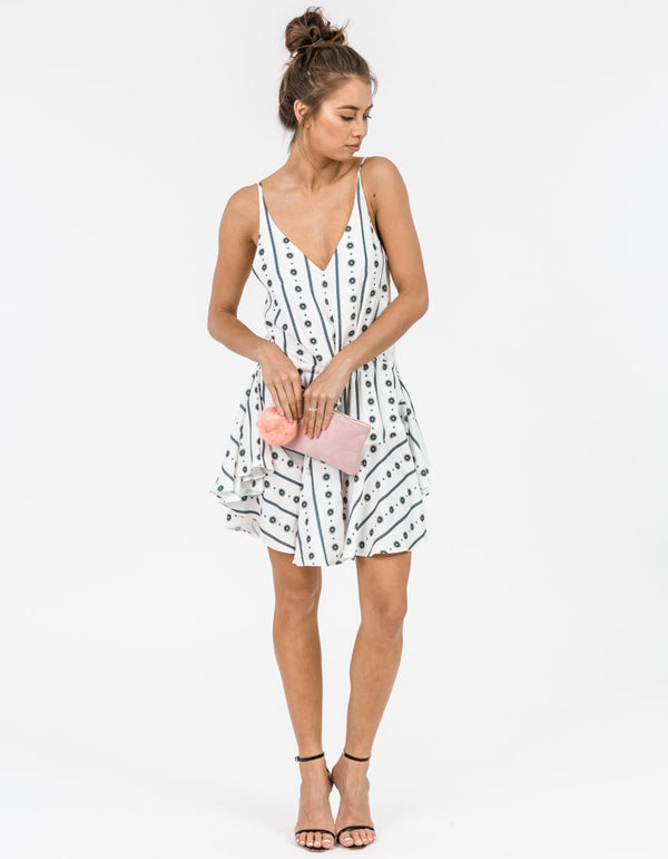 Republic Drawstring Mini Dress