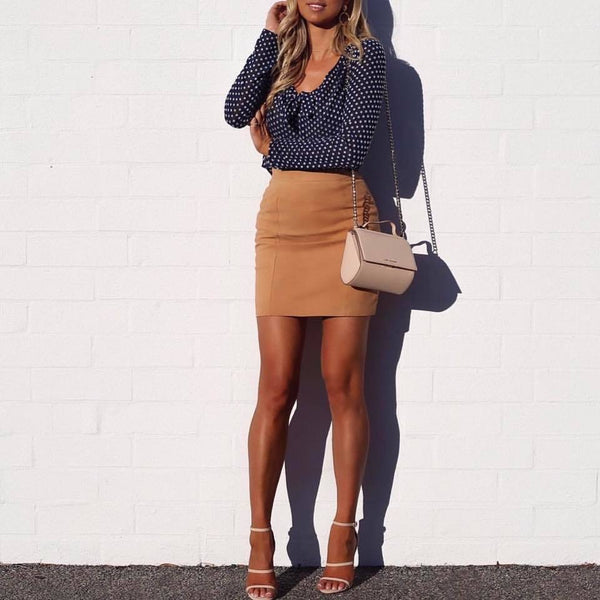 Valley Mini Suede Skirt