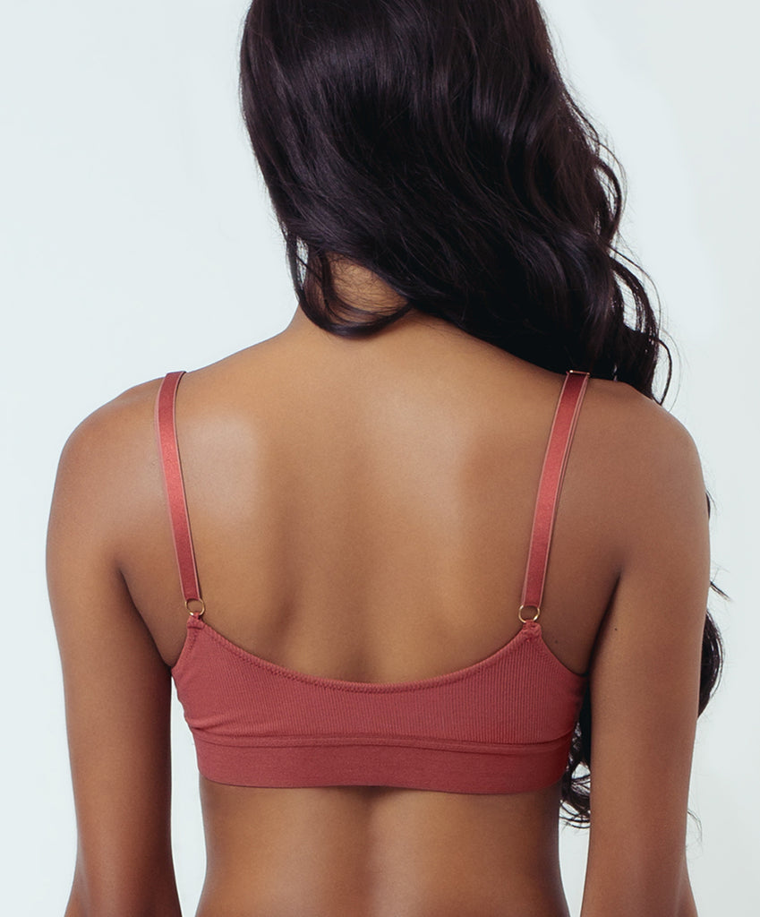TALL TRIANGLE BRALETTE- RED VELVET CAKE