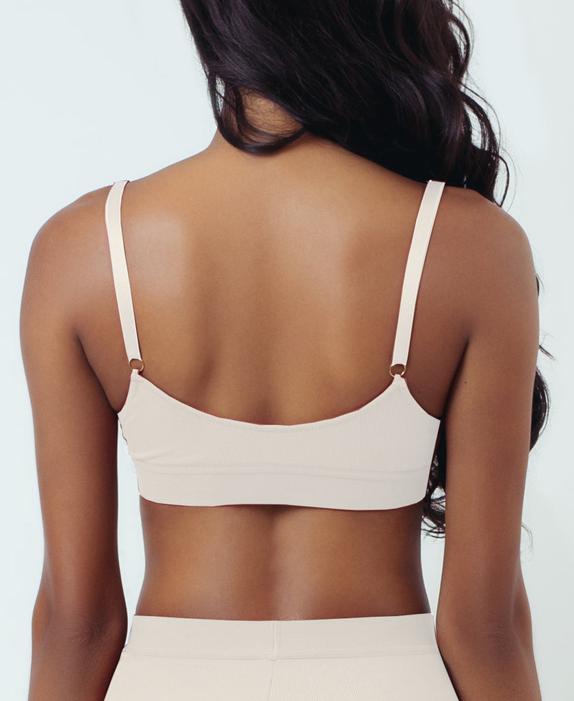 TALL TRIANGLE BRALETTE PEARL