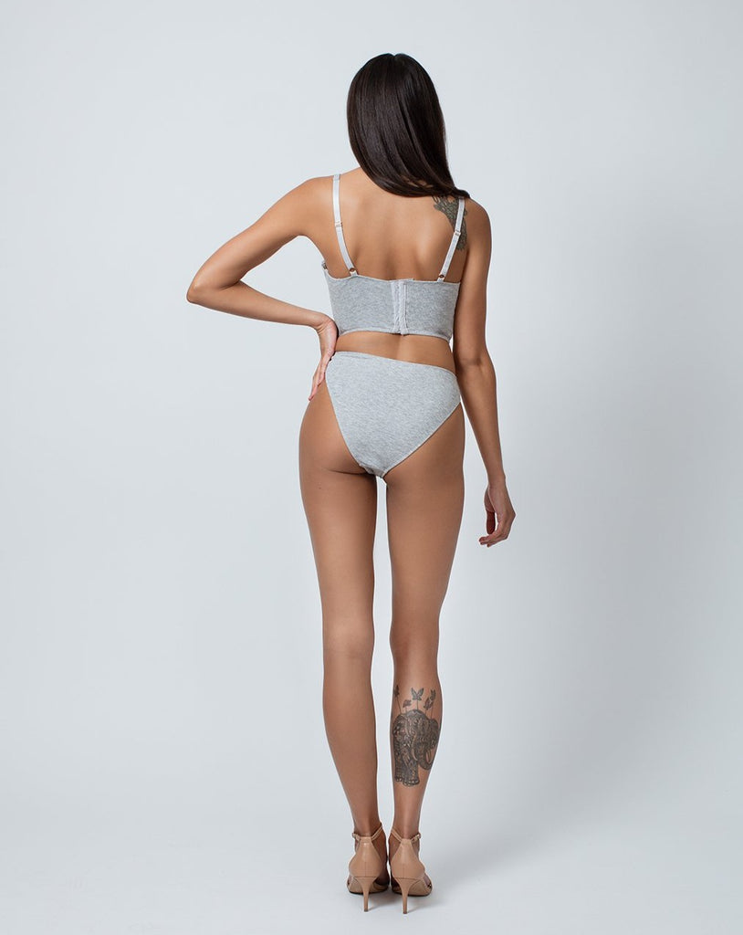 UNDERWIRE BUSTIER- HEATHER GREY