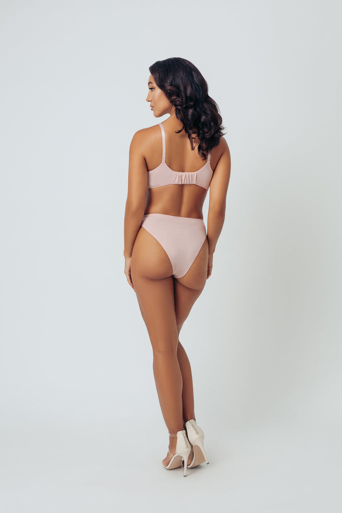 HIGH LEG BRIEF- PETAL PINK