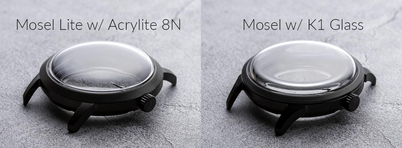 Mosel Lite with Acrylite 8N crystal vs Mosel with K1 Hardened Anti-scratch Glass