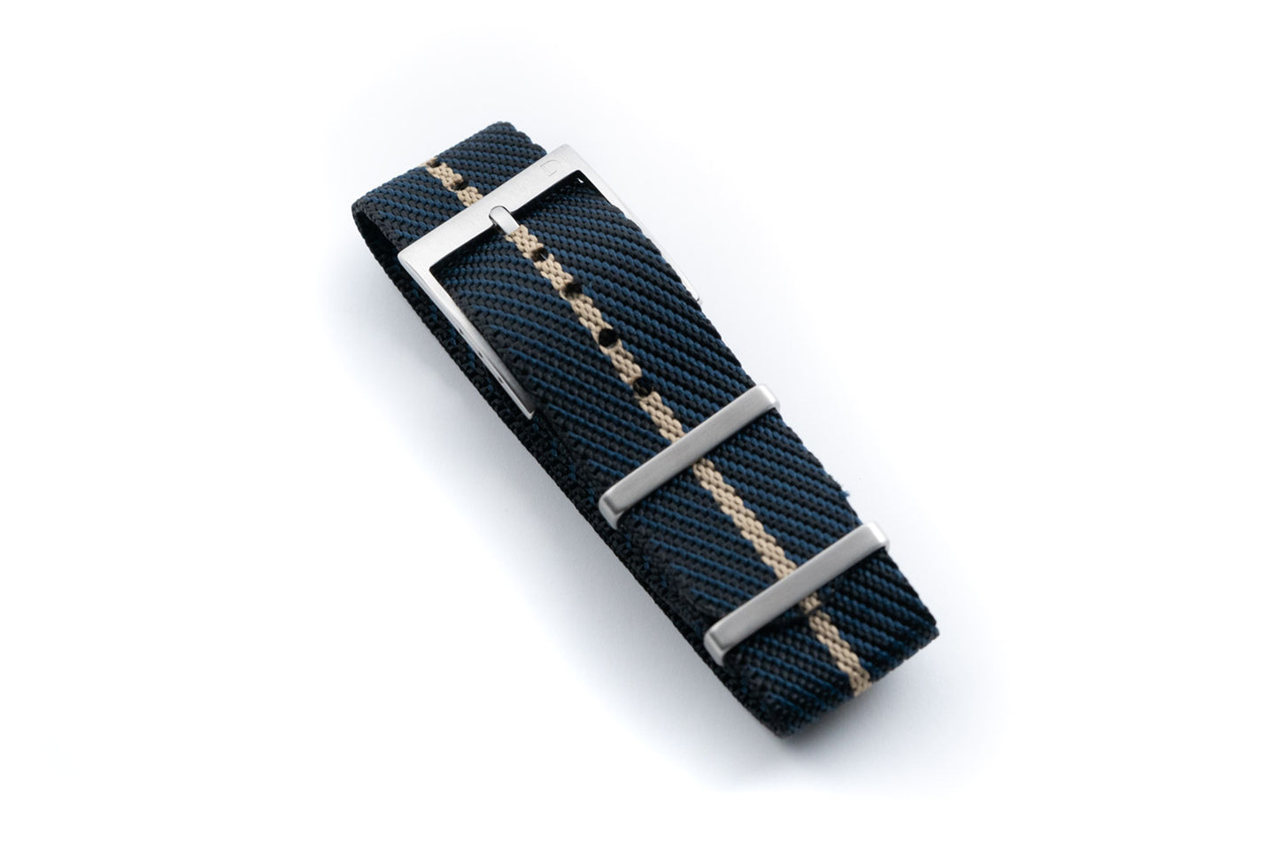 DIY Watch Club Classic NATO Strap - Navy x Black with Khaki centerline