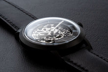 Load image into Gallery viewer, DIY Watch Club - Black Skeleton set with MIyota 8N24 and black classic strap