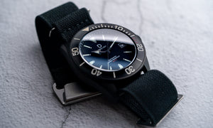 DIY Watchmaking Kit | PVD Black NH35 Dive Watch with Date + Sapphire Dome Crystal - DWC-D01B