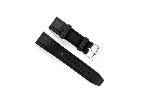 DIY Watch Club FKM Rubber Watch Band - Black