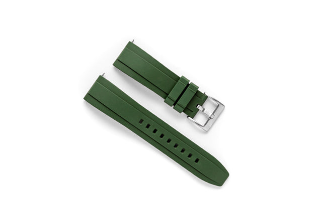 DIY Watch Club FKM Rubber Watch Band - Green