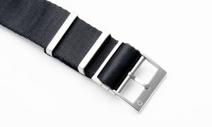 DIY Watch Club Seatbelt NATO Strap -  Black