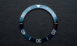 Blue stainless steel bezel insert for Seiko Mod (Requires DWC bezel)