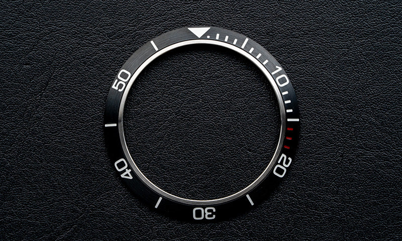 Black stainless steel bezel insert for Seiko Mod (Requires DWC bezel)