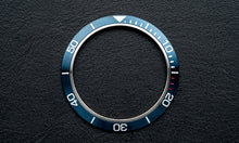 Load image into Gallery viewer, Stainless steel blue bezel insert for Seiko Mod (Requires DWC bezel)