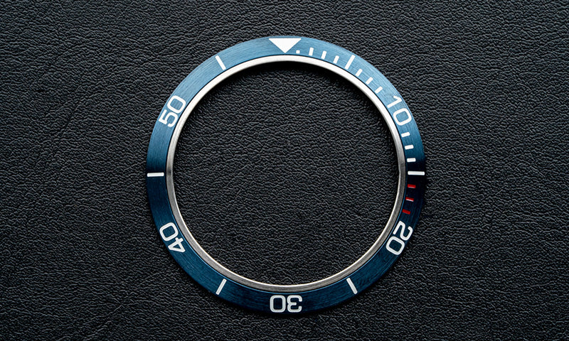 Stainless steel blue bezel insert for Seiko Mod (Requires DWC bezel)